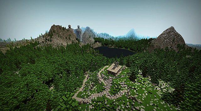 Argonath - The Gate of Kings Minecraft gateway brick build ideas LOTR