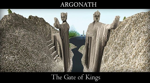 Argonath - The Gate of Kings Minecraft gateway brick build ideas