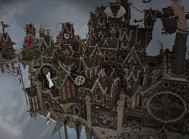 Blackwind Metropolis A City in the Sky floating minecraft building inspiration 10