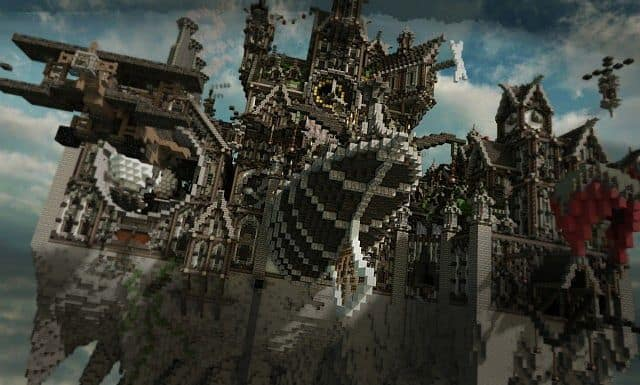 Blackwind Metropolis A City in the Sky floating minecraft building inspiration 8