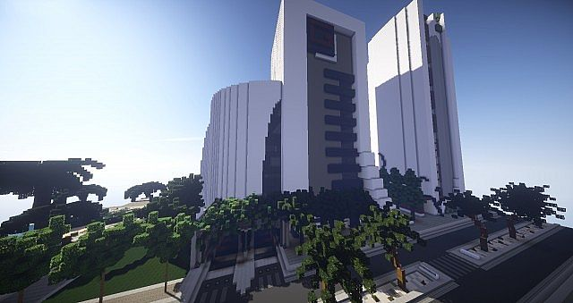Gear Motors modern car dealership minecraft building ideas 4