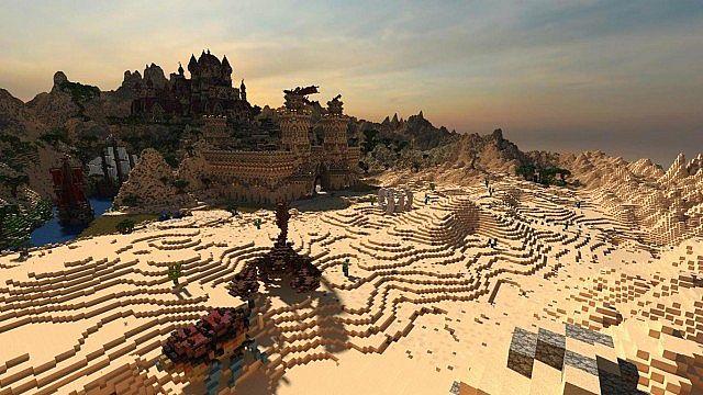Kingdom of Azerian - Oriental Capital minecraft castle mountain build desert
