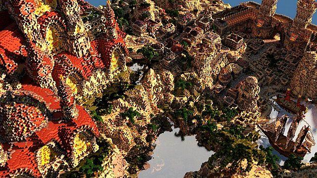 Kingdom of Azerian - Oriental Capital minecraft castle mountain build floating
