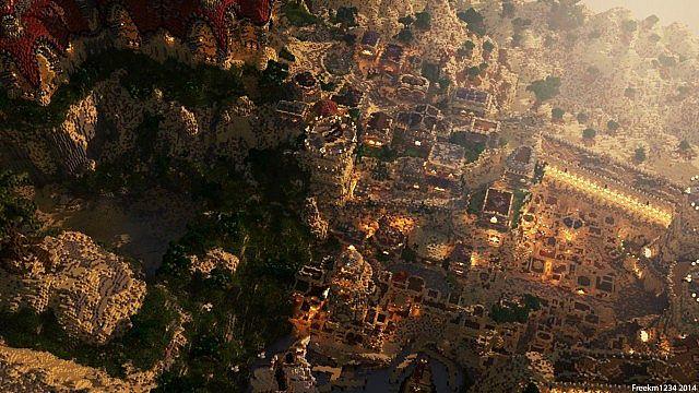 Kingdom of Azerian - Oriental Capital minecraft castle mountain build overview