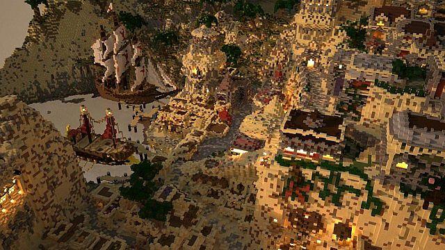 Kingdom of Azerian - Oriental Capital minecraft castle mountain build skyview