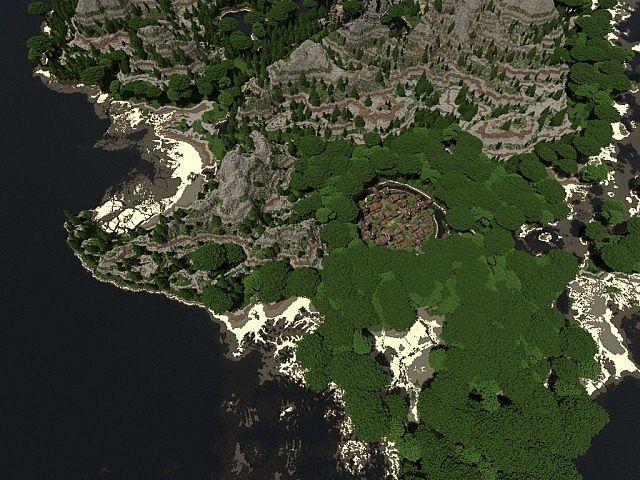 Lost Isles Of Galitor island village minecraft building ideas start 2