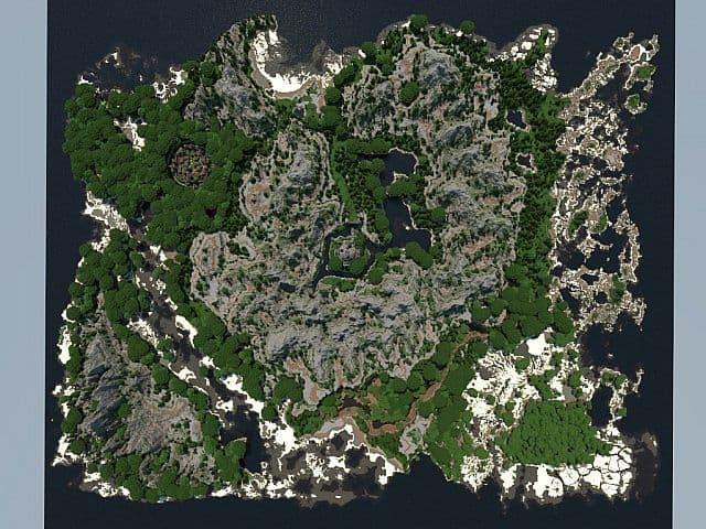 Lost Isles Of Galitor island village minecraft building ideas start