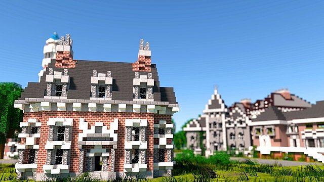 MU frat houses Monster University minecraft building inc college school learning 2