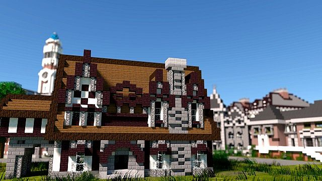 MU frat houses Monster University minecraft building inc college school learning 3