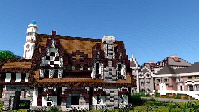 MU frat houses Monster University minecraft building inc college school learning 3