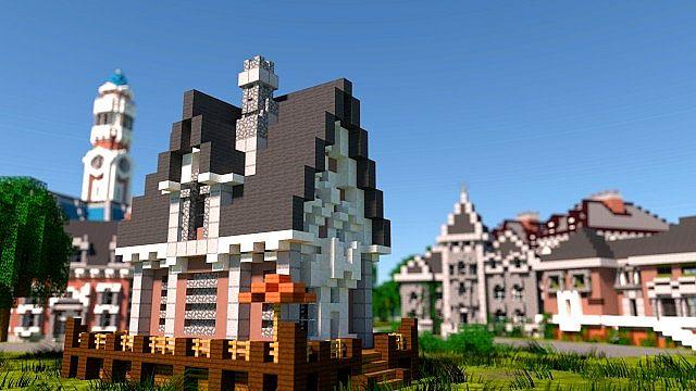MU frat houses Monster University minecraft building inc college school learning 4