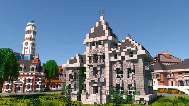 MU frat houses Monster University minecraft building inc college school learning 5