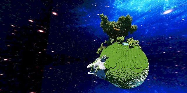 Plutopia floating worlds citys tree planets minecraft building ideas 11