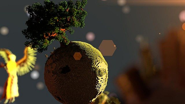Plutopia floating worlds citys tree planets minecraft building ideas 4