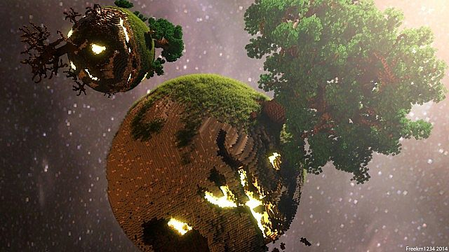 Plutopia floating worlds citys tree planets minecraft building ideas 5
