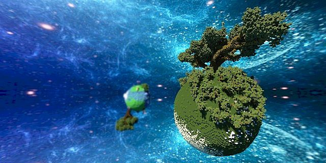Plutopia floating worlds citys tree planets minecraft building ideas 6