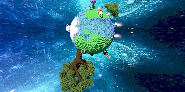 Plutopia floating worlds citys tree planets minecraft building ideas 7
