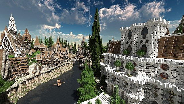 Soveriin The End of Aurae minecraft building townhall city village 3