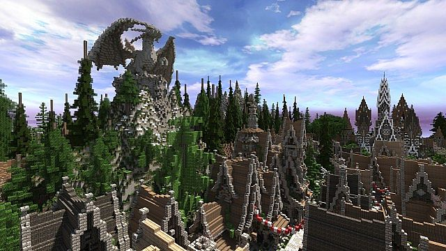 Soveriin The End of Aurae minecraft building townhall city village 4