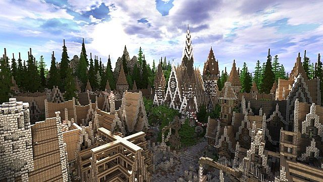 Soveriin The End of Aurae minecraft building townhall city village 5