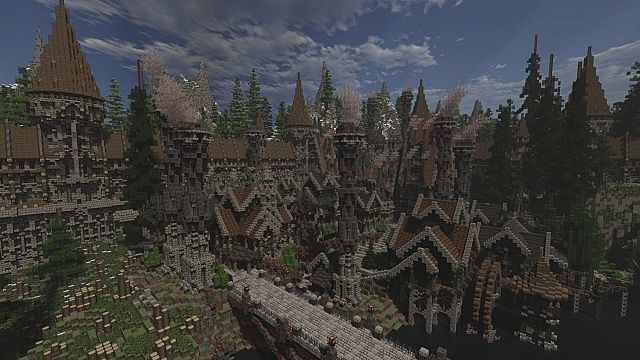 Soveriin The End of Aurae minecraft building townhall city village 8
