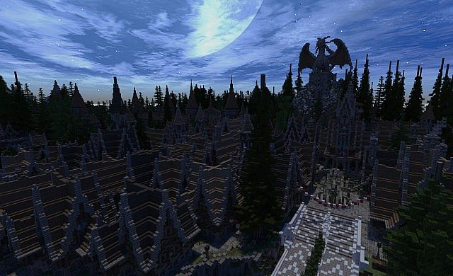 Soveriin The End of Aurae minecraft building townhall city village 9