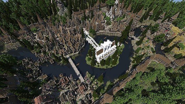 Soveriin The End of Aurae minecraft building townhall city village