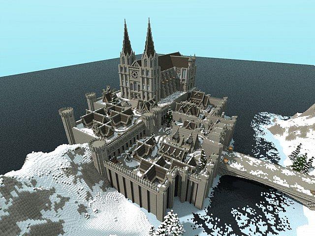 Winterbleak [World of Targur Minecraft castle building ideas sea water bridge boats 2