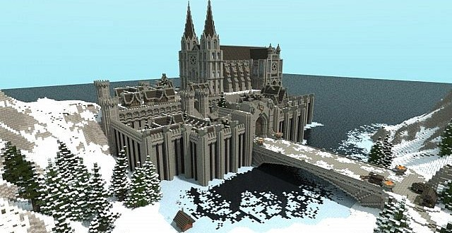 winterbleak world of targur castle minecraft building inc