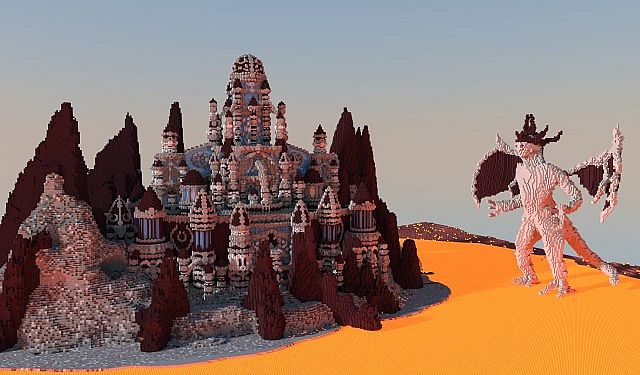 A journey though hell minecraft building ideas castle 3