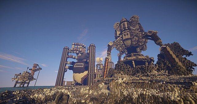 BlockWorks Inc Minecraft building ideas city iron industrial 13