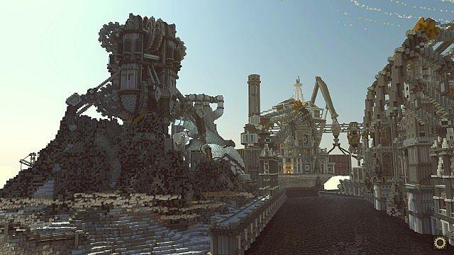 BlockWorks Inc Minecraft building ideas city iron industrial 3