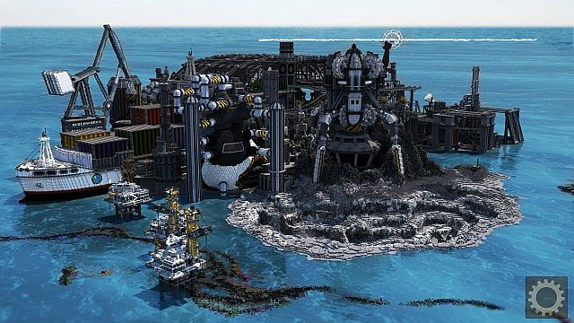 BlockWorks Inc Minecraft building ideas city iron industrial 4