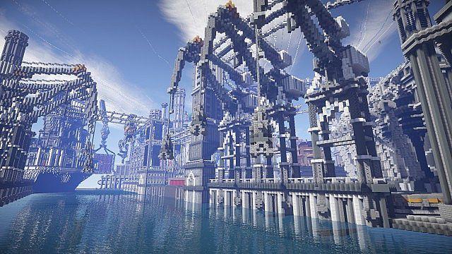 BlockWorks Inc Minecraft building ideas city iron industrial 9