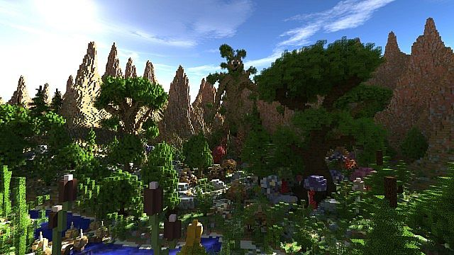 Elessar the forest palace minecraft building ideas castle woods trees 2