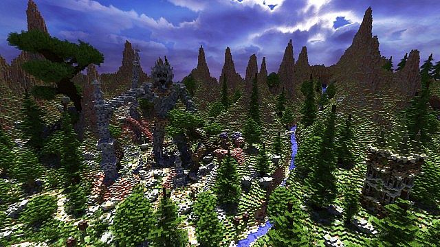 Elessar the forest palace minecraft building ideas castle woods trees 3