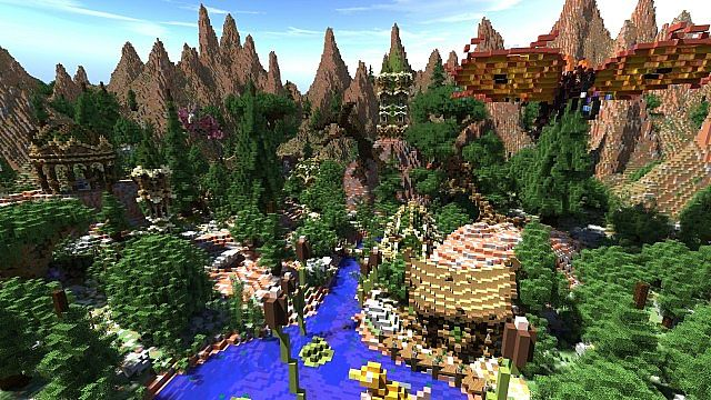 Elessar the forest palace minecraft building ideas castle woods trees 4