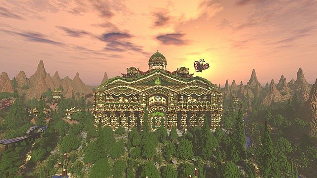 Elessar the forest palace minecraft building ideas castle woods trees