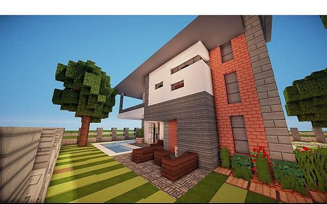Fire Station Converted House modern building ideas minecraft 2