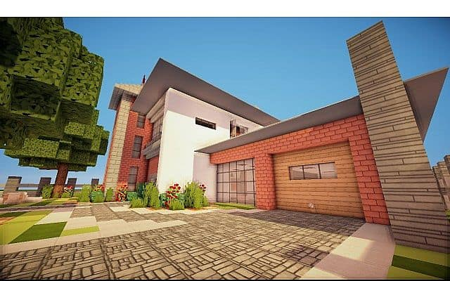 Fire Station Converted House modern building ideas minecraft 3