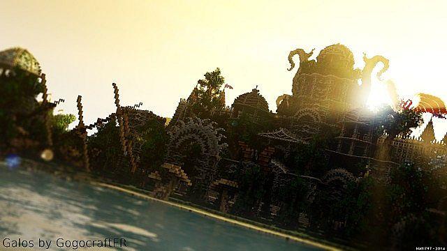 Galos Citadel Minecraft building ideas city town castle dragon 2