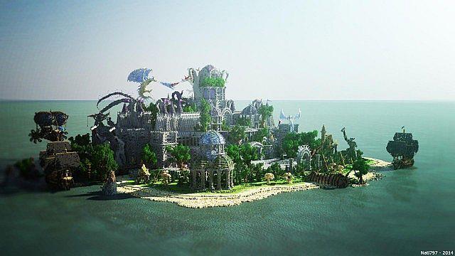 Galos Citadel Minecraft building ideas city town castle dragon 3