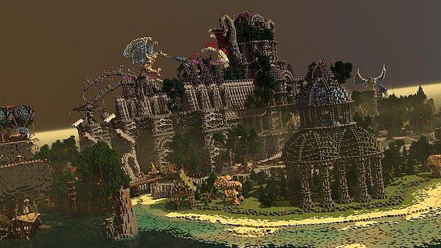 Galos Citadel Minecraft building ideas city town castle dragon 4
