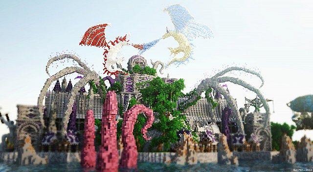 Galos Citadel Minecraft building ideas city town castle dragon 6