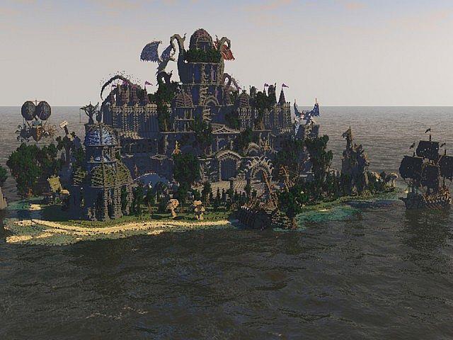 Galos Citadel Minecraft building ideas city town castle dragon 9