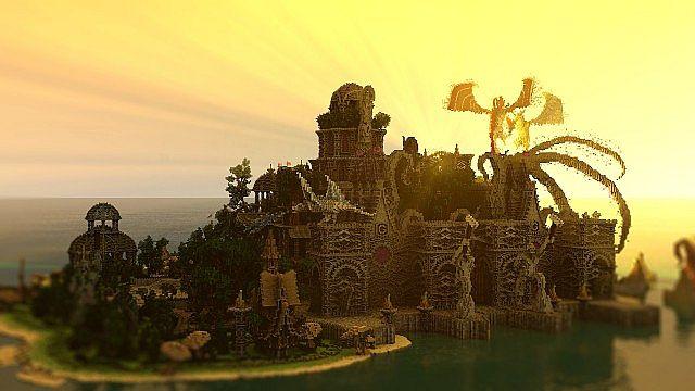 Galos Citadel Minecraft building ideas city town castle dragon