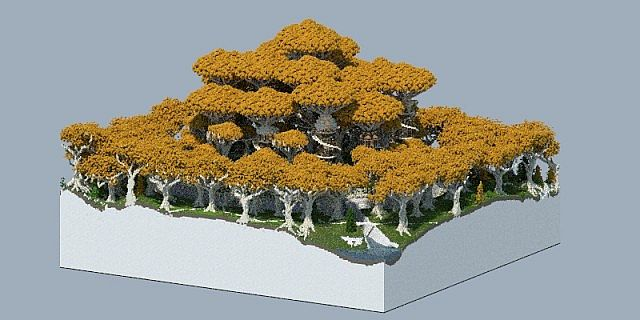 Lothlorien - LOTR Lord of the Rings Minecraft building ideas trees 2