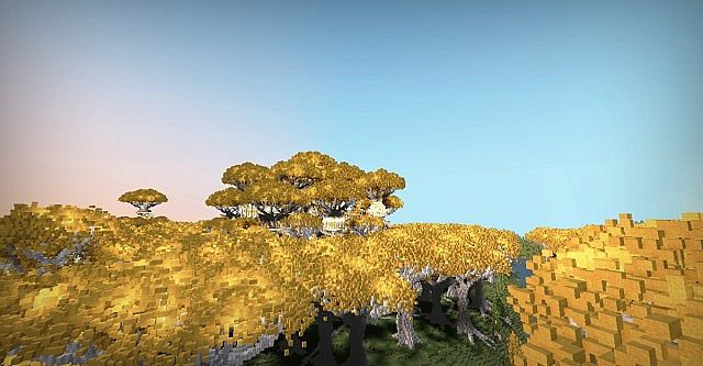 Lothlorien - LOTR Lord of the Rings Minecraft building ideas trees 4