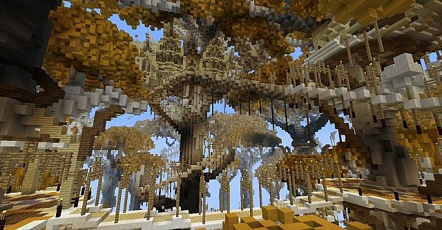 Lothlorien - LOTR Lord of the Rings Minecraft building ideas trees 7