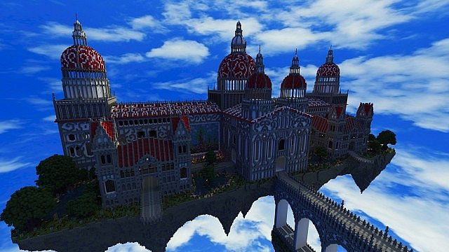 Palace of Life Floating castle minecraft building ideas 2